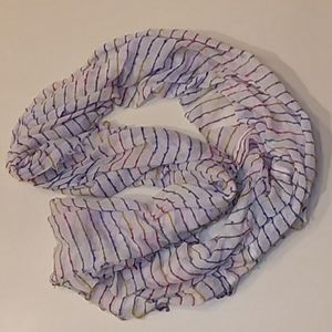 Steve Madden multi-color striped infinity scarf